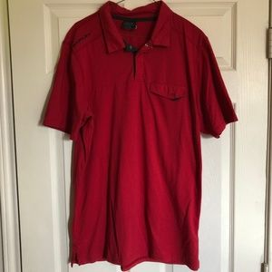 Oakley Red Polo Golf Shirt